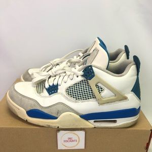 Air Jordan 4 Retro Military Blue Pre-Owned Size 9